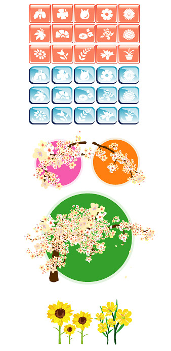Flower theme vector icon