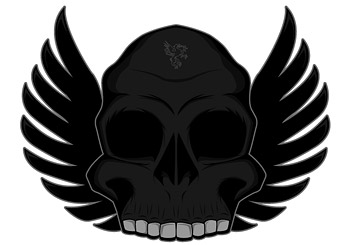 The trend of the skull with wings