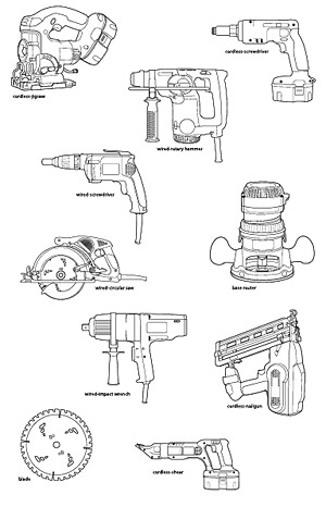 Power Tools vector material