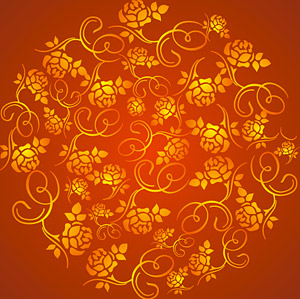 Gorgeous Rose pattern background