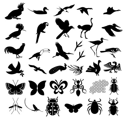Hundreds of the elements of nature in Pictures vector material