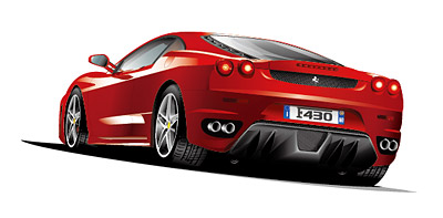 Ferrari sports car