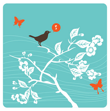 Branches of the birdies sing