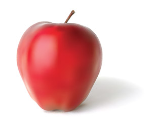 AI realistic rendering of the Apple vector material