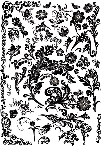Several practical rough black-and-white pattern