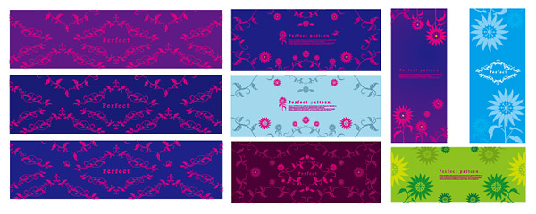Exquisite decorative patterns vector material