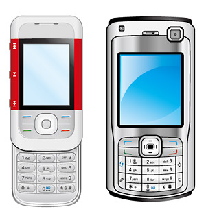 Both phones vector material
