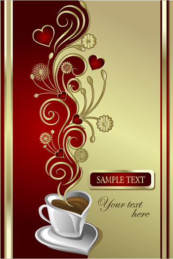 Vector material love coffee