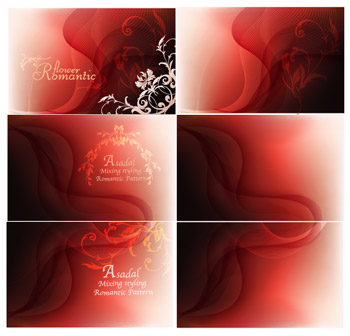 Fantasy red background patterns