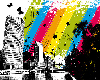 City color vector material