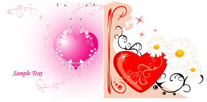 Both love and pattern vector material