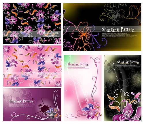Vector fantasy flowers background material
