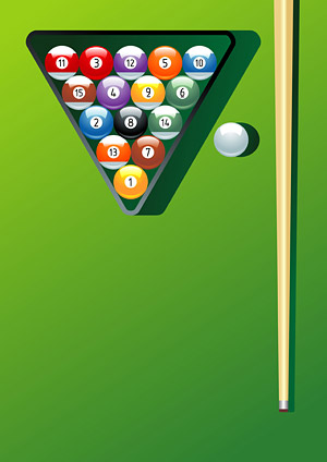 Billiards motion vector material