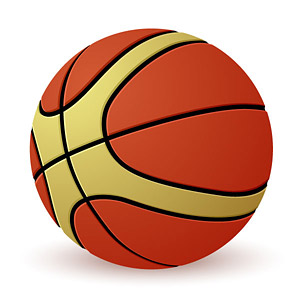 A basketball vector material