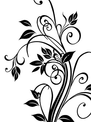Exquisite black-and-white pattern vector material