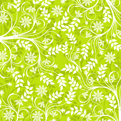 Green background patterns