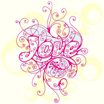 love pattern vector material