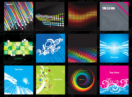 12 exquisite vector background material