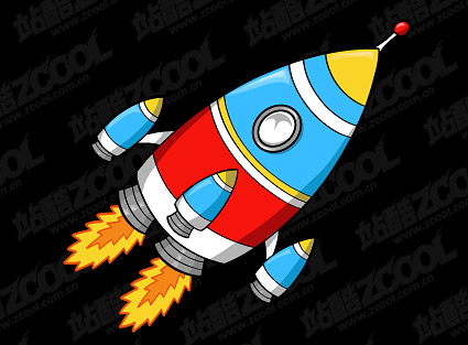 Cartoon style rocket