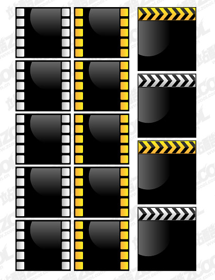 Crystal vector style movie film material