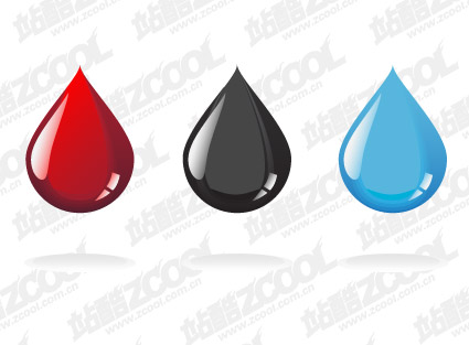 Color droplets vector material