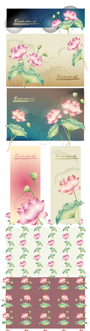 Lotus theme vector material