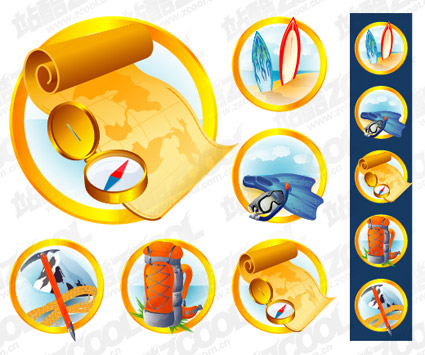 Vector material supplies outdoor icon