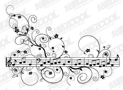 Music pattern vector material