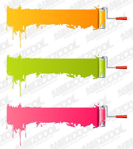 Vector paint brush material