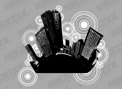 Cities and black-and-white circular logo -2