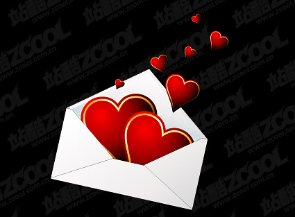 Installed in the love addressed to the vector material-2