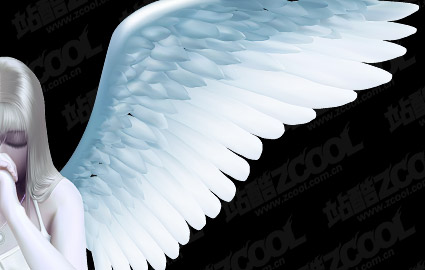 Beautiful angel vector material