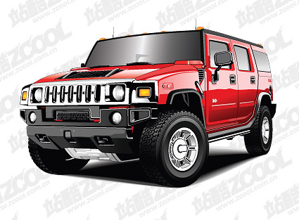 Hummer vehicle vector material