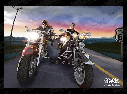 ai realistic rendering of Harley owners vector material