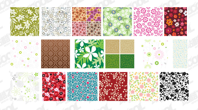 Featured tile pattern vector background material -3