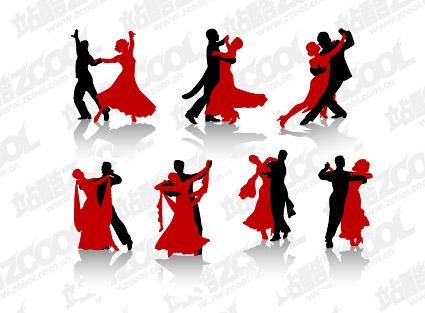 Vector material dance figures in Pictures