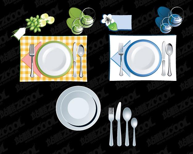 tableware vector material
