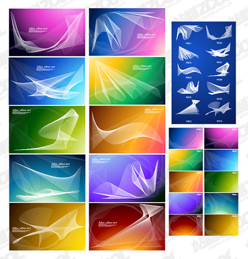 Symphony vector background material