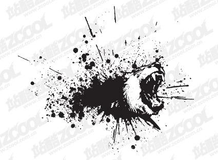 Vector material ferocious bears