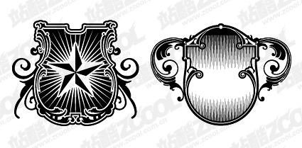 shield logo vector material