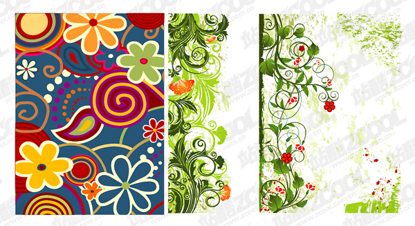 Hand-painted patterns vector material