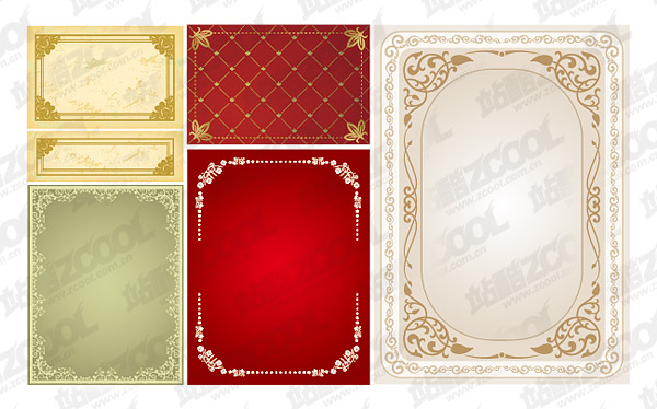 Practical lace border vector material-1