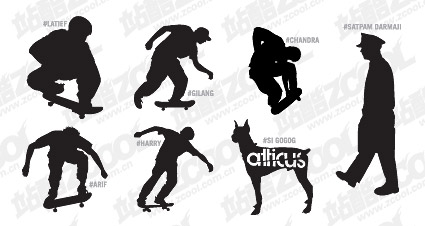 Several action figures in Pictures vector material