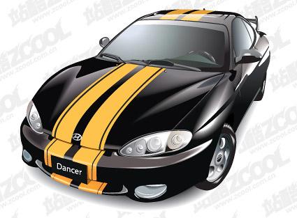 HUNDAI tubiron car vector material