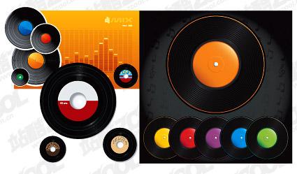 Vector color vinyl disc material