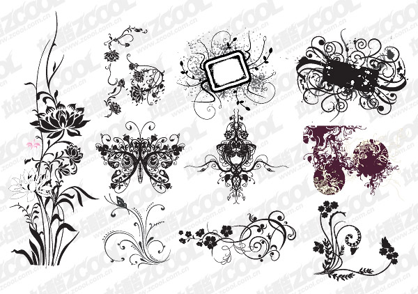 Practical fashion pattern vector material