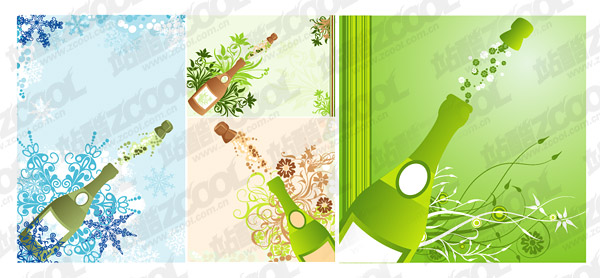 Open the champagne moment with the tread pattern vector material