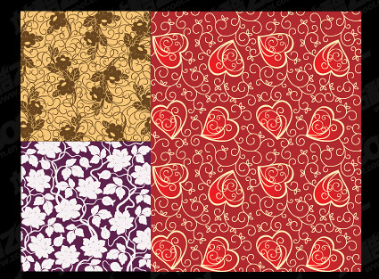 The beautiful tiled background patterns vector material