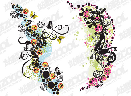 Fun fashion pattern vector material