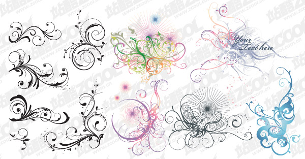 David variety of practical pattern vector material